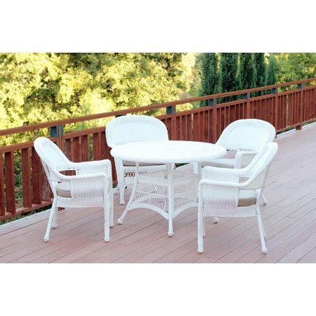 Resin Patio Furniture by 5 White Resin Wicker Chair Table Patio Dining