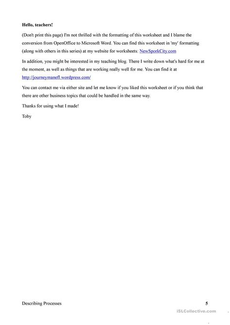 Business English Describing Processes With The Passive Worksheet  Free Esl Printable