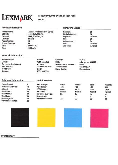 hp color laserjet cp print test page coloring pages