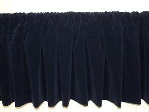 Navy Velvet Drapes - window treatment navy blue rod pocket curtain topper
