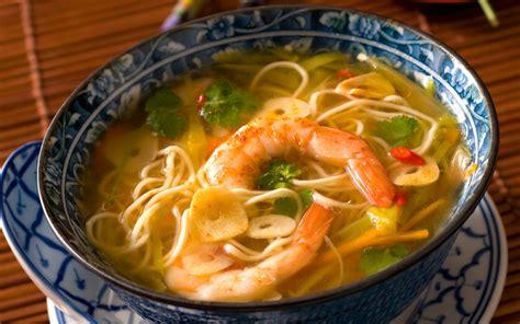 soupe de crevettes  nouilles chinoises recette de