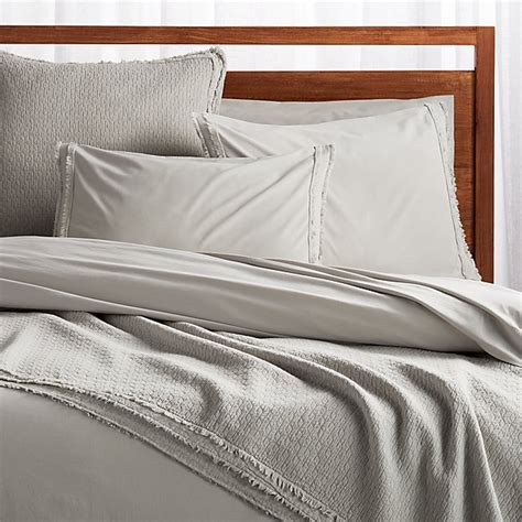 Organic Cotton Coverlet by Washed Organic Cotton Grey King Coverlet Reviews Crate
