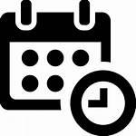 Icon Symbol Clock Calendar Administration Svg Organization