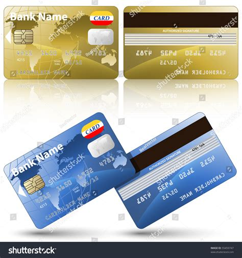 Check spelling or type a new query. Vector Credit Cards Front Back View Stock Vector 55459747 - Shutterstock