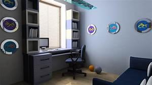Deco bureau 9m2 for Luminaire chambre enfant avec point p fenetre sur mesure