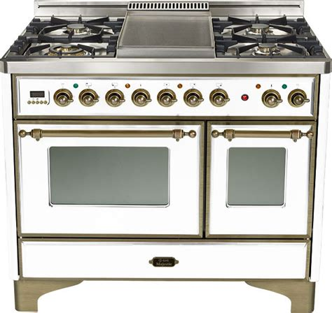 ilve umd100smpby 40 inch traditional style dual fuel range