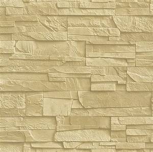 Tapete rasch factory 438338 steine 3d beige creme steintapete for Balkon teppich mit rasch factory tapete stein 3d
