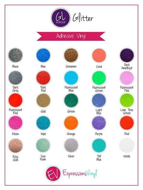 glitter adhesive vinyl color chart expressions vinyl vinyl colors glitter vinyl