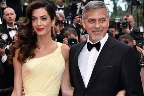 George clooney is all smiles while charming the crowd on stage at the 2015 art directors guild excellence in production design awards held at mayim is wearing graziela gems earrings and ring with effy jewelry bangles. Amal Clooney Interview About Motherhood - Simplemost