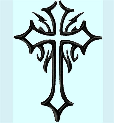 25 unique cross ideas on unique cross silhouette embroidery designs 3 sizes instant