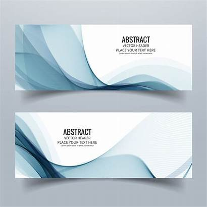 Banner Header Modern Vector Colorful Wave Banners