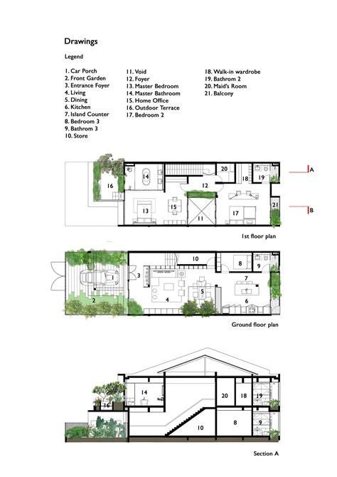 trees  shrubs create faux courtyard  house