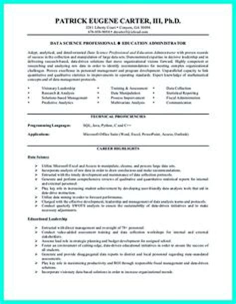 entry level data analyst resume sle data scientist resume include everything about your education skill qualification and your