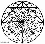 Kaleidoscope Coloring Pages Printable Easy Cool2bkids Colouring Pattern Print Mandala sketch template