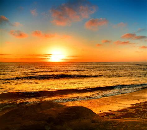 sunset beach background wallpapersafari