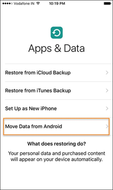 move from android to ios how to use move to ios to switch from android to iphone 7