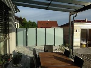 terrasse sichtschutz glas innenr ume und m bel ideen With terrasse sichtschutz glas
