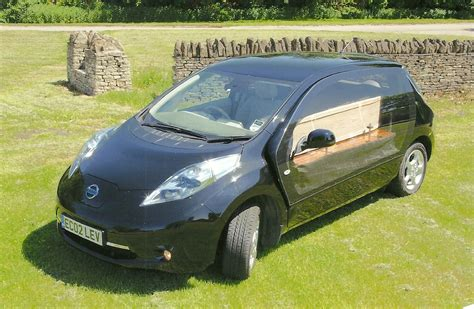 electric nissan leaf hearse greenest   travel