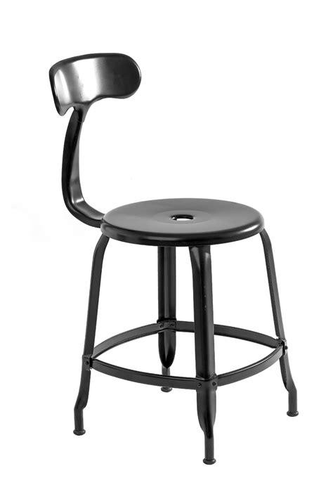 chaise d atelier ardamez chaise nicolle noir h45 chaise d 39 atelier en métal