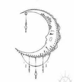 ideas  crescent moon tattoos  pinterest moon tattoos moon tattoo designs