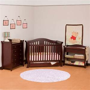 Useful Convertible Crib with Changing Table for Baby