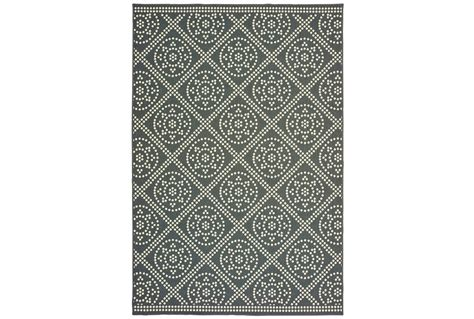 outdoor rug greyivory diamond dots living spaces