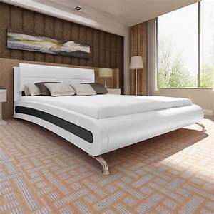 Lit 180 Cm : lit en cuir 180 200 cm avec pieds cadres de lit avec sans matelas ebay ~ Teatrodelosmanantiales.com Idées de Décoration