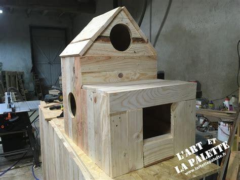 cabane exterieure pour chat cabanes animaux maison 224 chats l et la palette fabrication de meubles sur mesure
