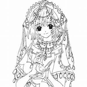 Fille Noir Et Blanc : coloriage fille manga en noir et blanc dessin gratuit ~ Melissatoandfro.com Idées de Décoration