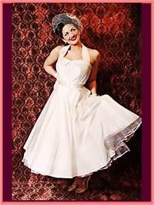 tea length wedding dresses ivory silk 50s style full skirt With retro 50 s wedding dresses