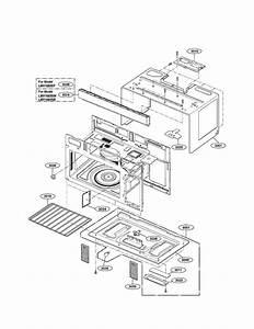 Lg Lmv1683st  00 Microwave  Hood Combo Parts