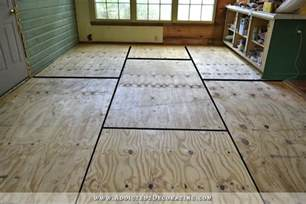 breakfast room progress plywood subfloor installed concrete slab for nail solid