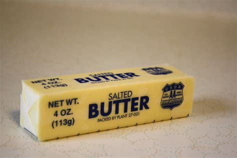 one stick of butter 1 4 pound butter equals