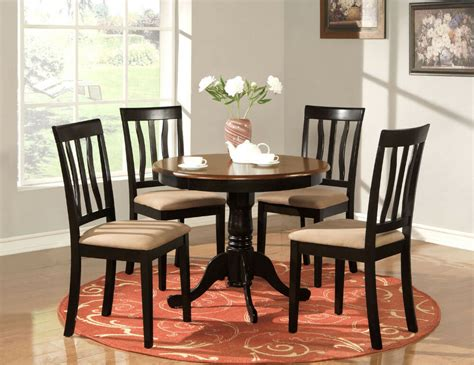 Kitchen Table 4 Chairs by 5 Pc Table Dinette Kitchen Table 4 Chairs Oak Ebay
