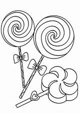 Candy Coloring Pages Tulamama Pop sketch template