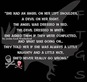 734 best Jordan... Angel And Evil Quotes