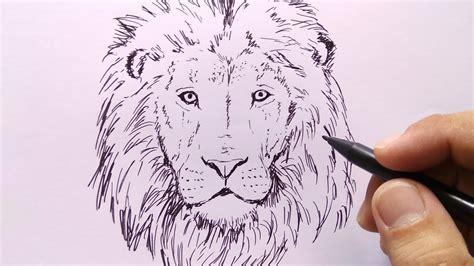 cara menggambar kepala singa YouTube
