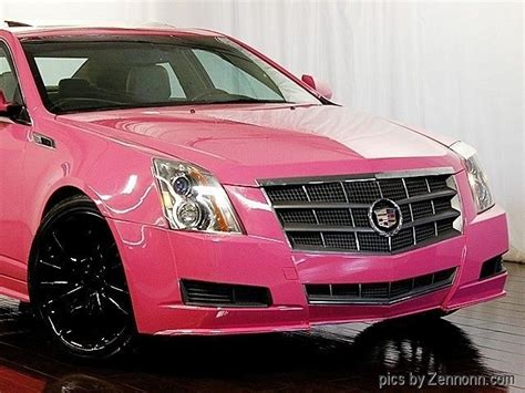 cadillac cts luxury collection awd custom pink paint