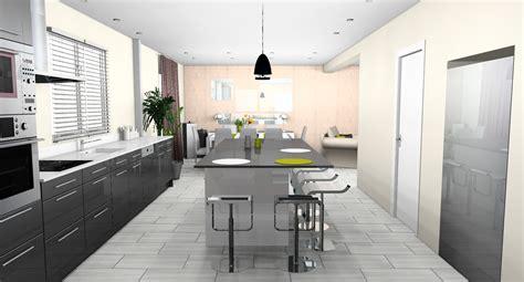 plan de cuisine ouverte sur salle à manger déco cuisine ouverte sur salle a manger exemples d