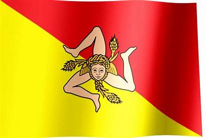 Flag Sicily Waving Sicilian Italy Willie Flags