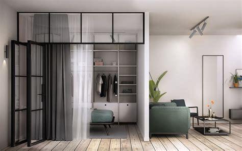Raumtrenner Ideen Schlafzimmer by 3 Offene Innenr 228 Ume Mit Glaswand Schlafzimmer Dekoration