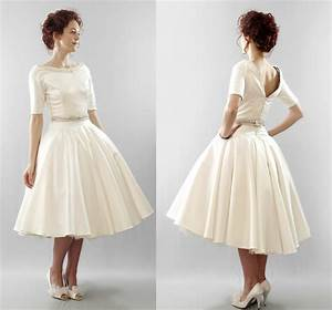 tea length vintage wedding dresses cheap wedding dresses With cocktail length wedding dresses