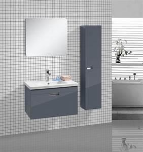 Bad Set Grau : 3 tlg badm bel set badezimmer m bel garnitur shiny grau mit wandspiegel ~ Indierocktalk.com Haus und Dekorationen