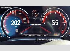 BMW M760Li 2017 TachoVideo 0200 zum V127er mit 610 PS
