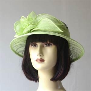 Chapeau Anglais Femme Mariage : petit chapeau femme c r monie mariage vert clair et rayures noires ~ Maxctalentgroup.com Avis de Voitures