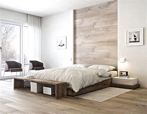 chambre blanche et bois chambre adulte blanche 80 idées pour votre aménagement