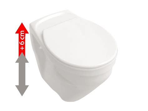 wand wc 10 cm erhöht erh 246 htes wand wc inkl wc sitz sitzfl 228 che 6 cm erh 246 ht