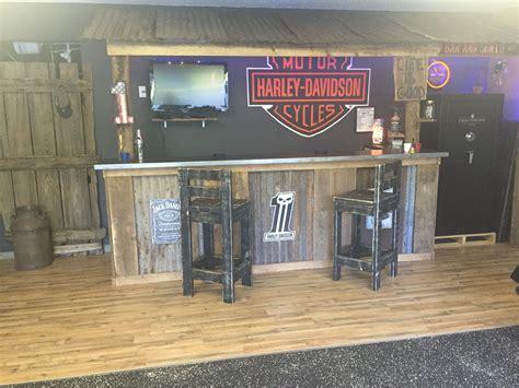 harley davidson pub garage bar man cave basement bars rustic bar harley