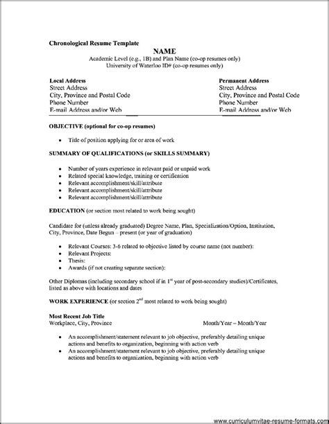 It Professional Resume Format by Professional Resume Format Pdf Free Sles Exles