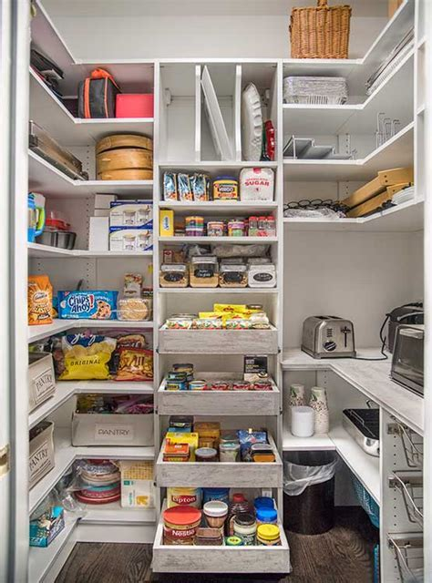 Walk In Pantry Shelving Systems for Large Pantry Room